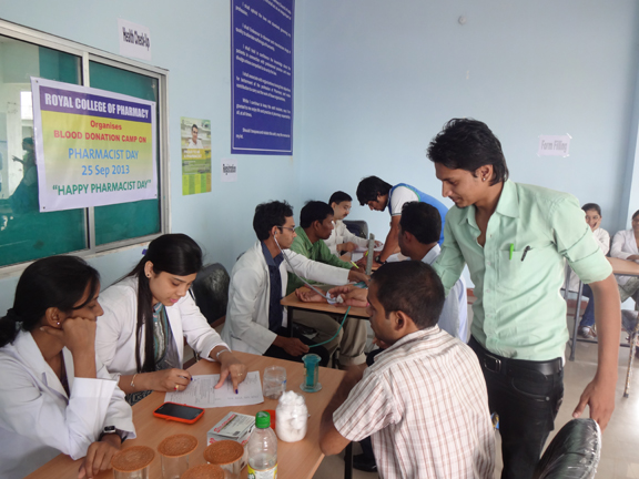 Blood Donation Camp at Royal College of Pharmacy
